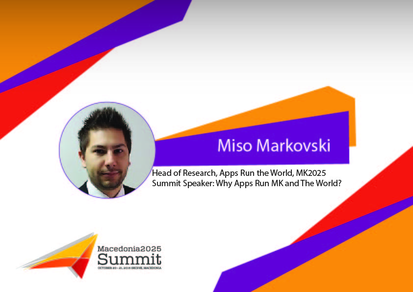 Miso Markovski, Head of Research, Apps Run the World, USA